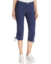Nydj Abby Ruched Capri Pants Commander Blue