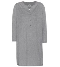 Velvet Vavaya Cotton Blend Dress Grey