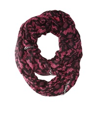 Betsey Johnson Lace Attraction Infinity Pink Scarves