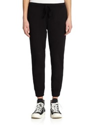 Wilt Cropped Drawstring Sweatpants Black