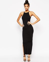 Asos Maxi Dress With 90S High Neck Black