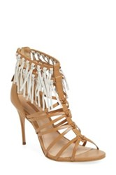 Topshop 'Lux' Fringe Sandal Women Brown