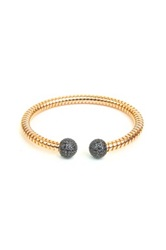 Milor Jewelry Black Spinel Cable Cuff