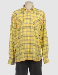 Arnold Zimberg Shirts Long Sleeve Shirts Men Yellow