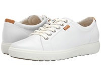 Ecco Soft Vii Sneaker White White Women's Lace Up Casual Shoes
