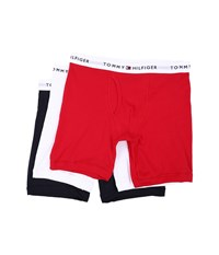 Tommy Hilfiger Cotton Boxer Brief 3 Pack Mahogany Men's Underwear
