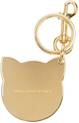 Stella Mccartney Gold Cat Keychain