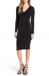Leith Women's Lace Up Long Sleeve Body Con Dress