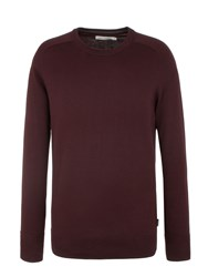 Ben Sherman Cotton Crew Neck Red