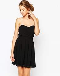Tfnc Prom Dress In Pleated Chiffon Black