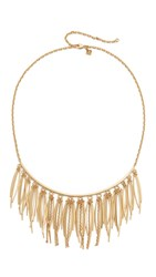 Rebecca Minkoff Needle Statement Collar Necklace Gold