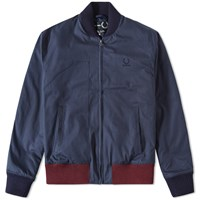 Fred Perry X Raf Simons Padded Bomber Jacket Blue