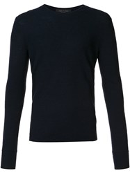Rag And Bone 'Giles' Crew Neck Sweater Blue