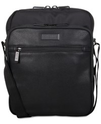Kenneth Cole Reaction Men's Vadornox Crossbody Tablet Bag Black