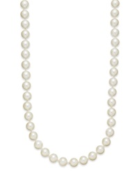 Charter Club Kiska Imitation Pearl Long Strand Necklace 8Mm