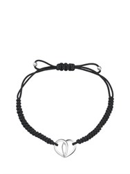 Montblanc Cord Bracelet With Silver Heart