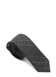 Thom Browne Hairline Stripe Flannel Tie Grey