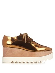 Stella Mccartney Elyse Lace Up Platform Shoes Gold
