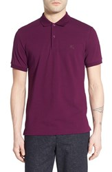 Men's Burberry Brit 'Oxford' Short Sleeve Polo Deep Purple Amethyst