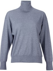 H Beauty And Youth. High Gauge Turtleneck Jersey Grey