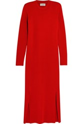Christophe Lemaire Wool Midi Dress Red