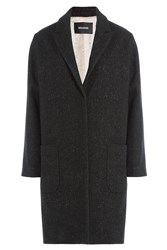 Zadig And Voltaire Coat With Wool Black