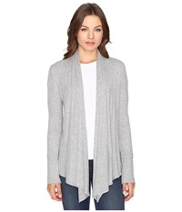 Culture Phit Edda Long Sleeve Ribbed Cardigan Heather Grey Women's Sweater Gray