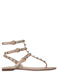 Valentino Rockstud And Stones Leather Sandals
