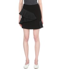 Opening Ceremony Ruched Crepe Mini Skirt Black