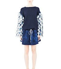 The Autonomous Collections Fringe Woven Dress Blue