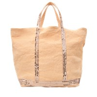 Vanessa Bruno Sequins And Linen Medium Tote