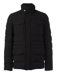 Peuterey High Neck Buttoned Jacket Black