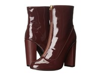 Lfl By Lust For Life Mod Burgundy Patent Women's Zip Boots