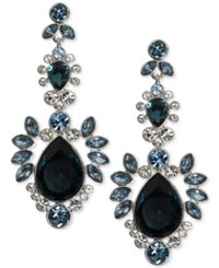 Givenchy Multi Crystal Cluster Post Earrings Silver