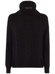 Karen Millen Chunky Cable Knit Jumper Black