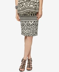 A Pea In The Pod Maternity Printed Pencil Skirt Black White Print