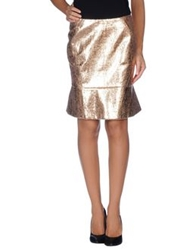 Three Floor Knee Length Skirts Copper