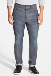 Joe's Jeans 'The Original Collectors Edition' Wax Coated Straight Leg Jeans Blue