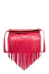 Christopher Kon Fringe Leather Crossbody Pink