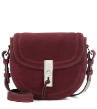 Altuzarra Ghianda Saddle Mini Suede Crossbody Bag Purple