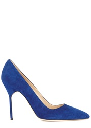Manolo Blahnik Royal Blue Suede Pumps