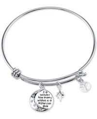 Disney Minnie Mouse Crystal Charm Bracelet In Stainless Steel