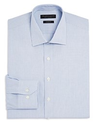 Bloomingdale's The Men's Store At Mini Tattersall Slim Fit Dress Shirt Navy Light Blue White