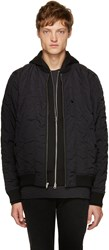 Alexander Wang Black Quilted Bomber Jacket