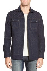 Jeremiah 'Patton' Embroidered Neppy Shirt Jacket Blue