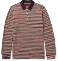Missoni Mioni Pace Dyed Cotton Pique Polo Hirt Brown