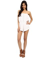 Volcom Cactus Flower Romper White Women's Jumpsuit And Rompers One Piece