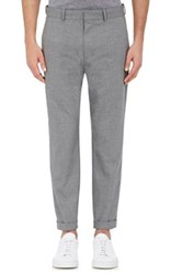 Vince. Men's End On End Crop Cuffed Trousers Grey