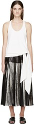 Cedric Charlier White Knotted Tank Top