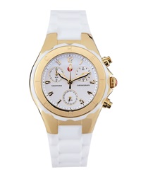 Michele Gold Tahitian Small Jelly Bean Chronograph White